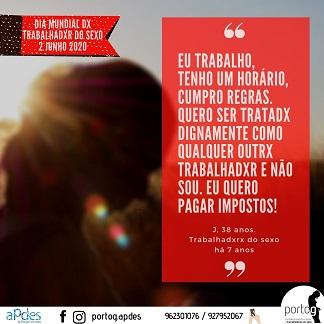 Dia Internacional dx Trabalhadxr Sexual