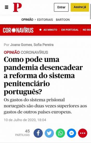 Como pode uma pandemia desencadear a reforma do sistema penitenciário português?