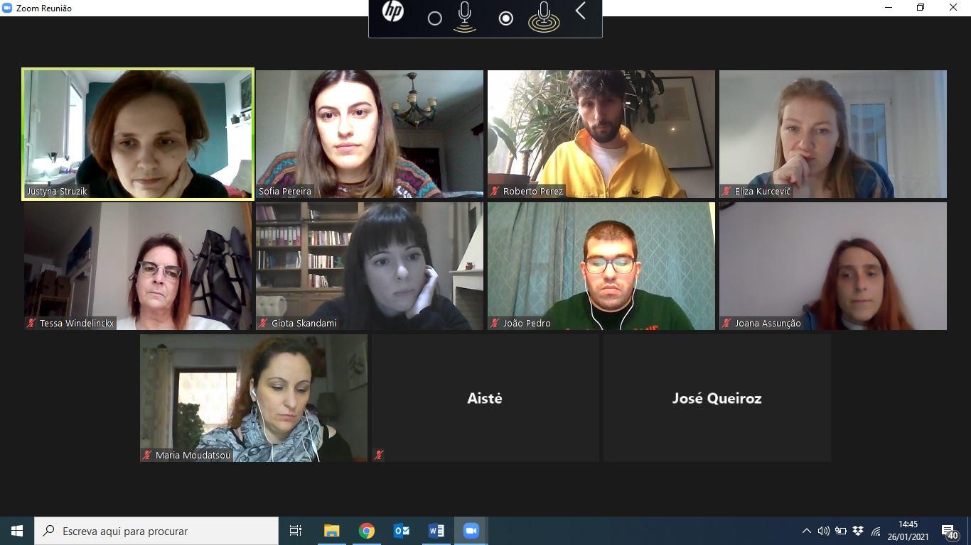 Reunião do Grupo de Trabalho Europeu – Projeto Peer2Peer
