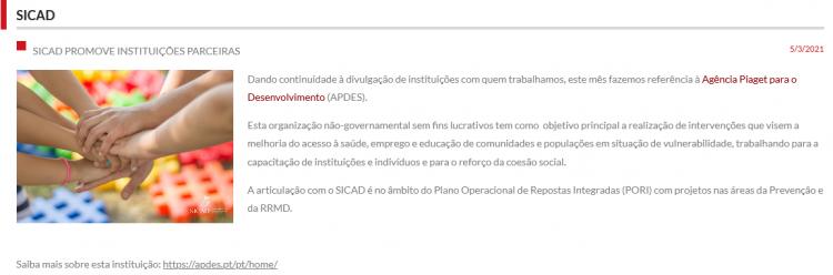 SICAD promotes APDES